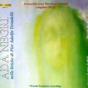 ADA NEGRI nelle liriche di Pier Adolfo Tirindelli / Laura Toffoli soprano - Davide Da Ros piano